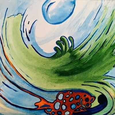 ORGANIC COMPOSITIONS - Acrylic, size 40x 40cm, titled 'The silent outburst' – 2011