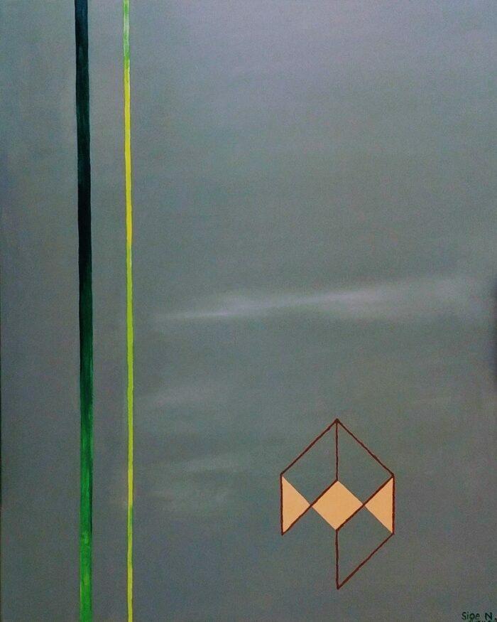 Acryl und Mixed Media, Titel: ' Abstract composition in grey', 80x100cm cm, 11. November 2017, Künstlerin Sige Nagels: Acryl auf Nachhaltigen Leinwand auf Keilrahmen aus Europaïscher Holz
