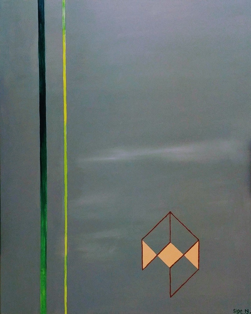 Acryl und Mixed Media, Titel: ' Abstract composition in grey', 80x100cm cm, 11. November 2017, Künstlerin Sige Nagels: Acryl auf Nachhaltigen Leinwand auf Keilrahmen aus Europaïscher Holz