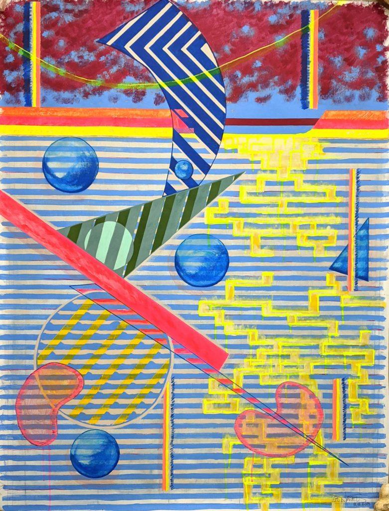 """Hoi Zäme"", 97cm x 130cm, Sige Nagels, 12.12.2019, Acrylic and Mixed Media artwork"